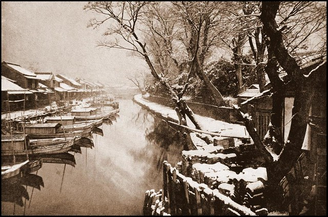 SEPIA SNOWFALL in OLD YOKOHAMA