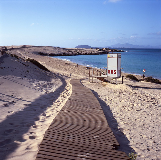 tortuous path to the beach