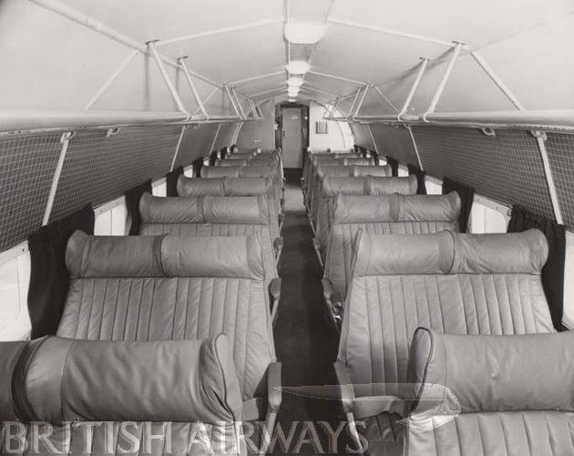 1940s - BEA Douglas DC-3, passenger cabin