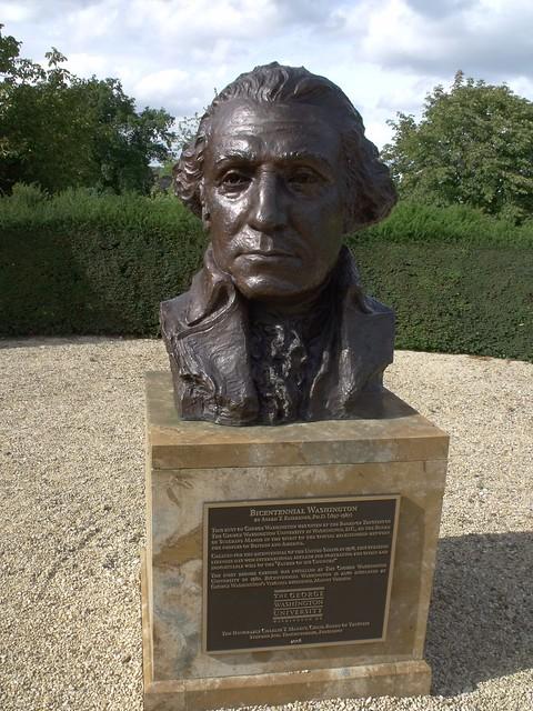 Bicentennial Washington: Bust of George Washington at Sulgrave Manor
