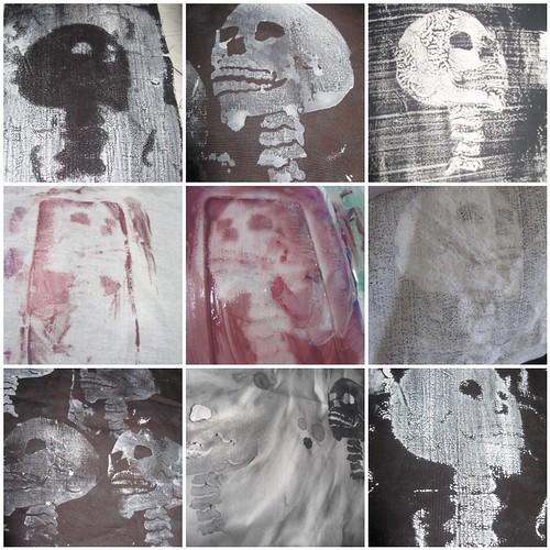 Skull stamping and printing
