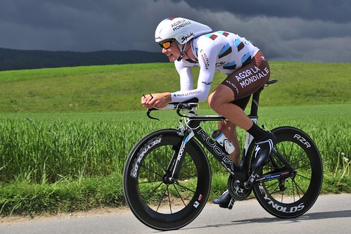 Nicolas Roche in action during the time trial of the 2011 Tour de Romandie. Photo: Georges Ménager
