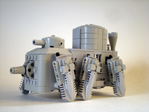 Steampunk Walker Mecha Tank