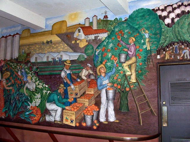 Coit tower murals flickr photo sharing for Coit tower mural