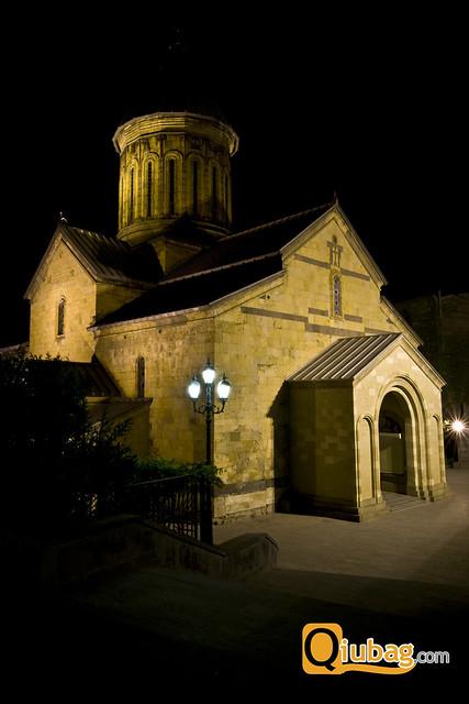 Zabytki Tbilisi nocą
