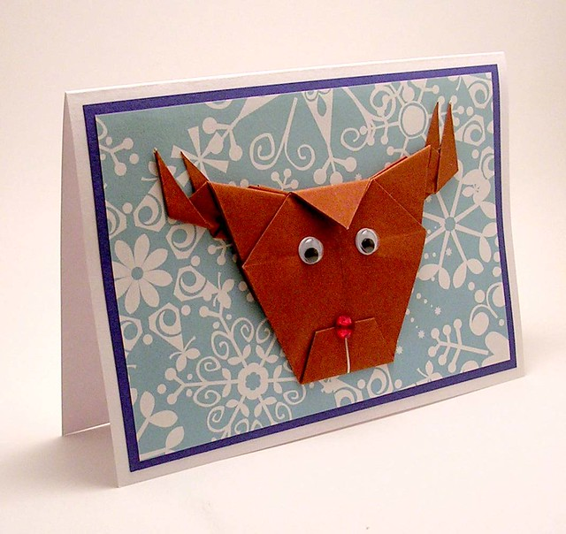 Origami Reindeer Christmas Card | Flickr - Photo Sharing! - photo#41