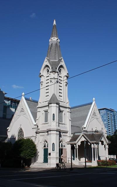 The Old Church (built in 1883 as the Calvary Presbyterian Church).  Portland Oregon, August 23 2009.