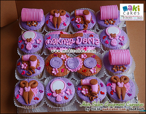 Hair Salon Equipment Cupcakes_ - Maki Cakes | Flickr - Photo Sharing!