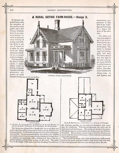 1881 Plan 3 Rural Gothic Farmhouse Flickr Photo Sharing