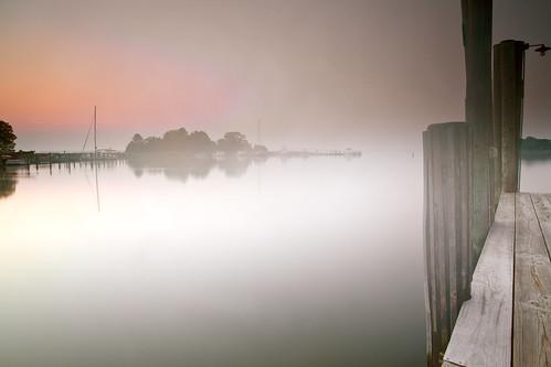 longexposure mist fog sunrise canon dawn pier day weekend getaway maryland easternshore stmichaels hitech gnd ef1740mmf4lusm theinnatperrycabin 5dmkii