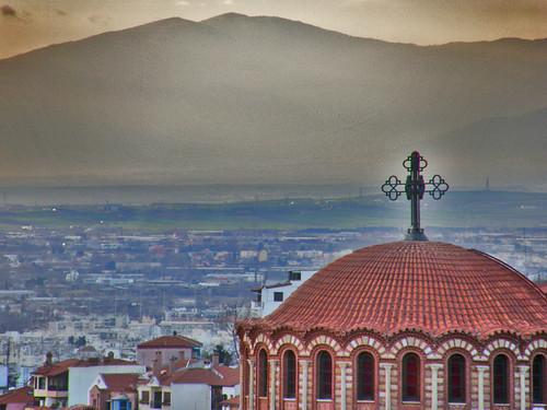 church saint paul high view hellas greece macedonia thessaloniki βουνο εκκλησια ελλαδα θεσσαλονικη θεα μακεδονια αγιοσ ψηλα παυλοσ ναοσ