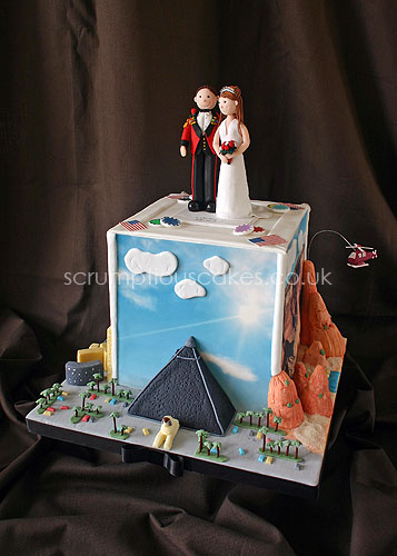 Wedding Cake 466 Las Vegas Scenes Personalised Topper Flickr