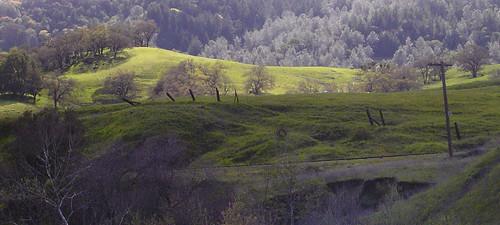 panorama sunlight river hills mendocino russian