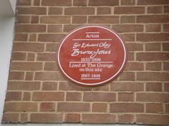 Photo of Edward Burne-Jones red plaque