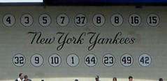 NY Yankees retired Numbers