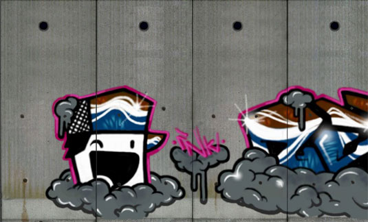 Graffiti Studio: Separation Wall, Mushon Zer-Aviv