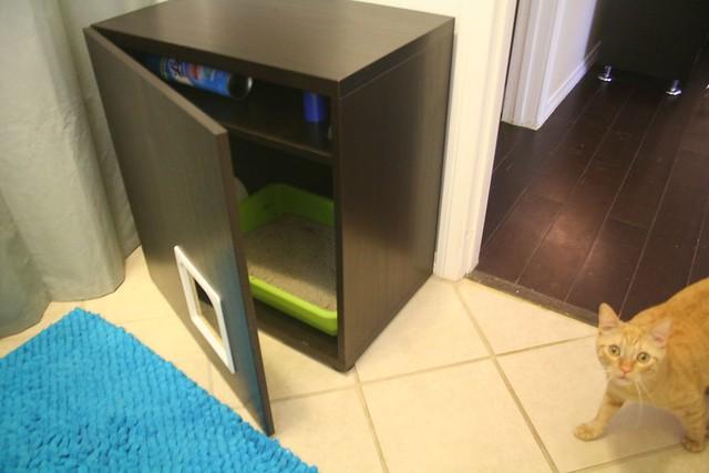 litter box cabinet hack flickr photo sharing. Black Bedroom Furniture Sets. Home Design Ideas