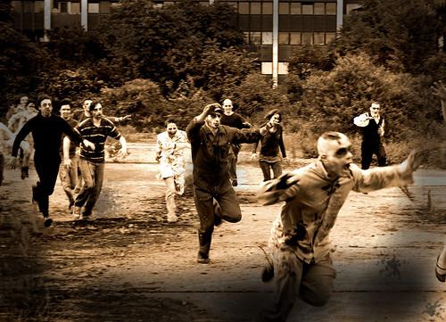 Zombie-Film-Dreh Monosyl