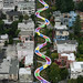 Lombard Street in San Francisco is turned into Candyland