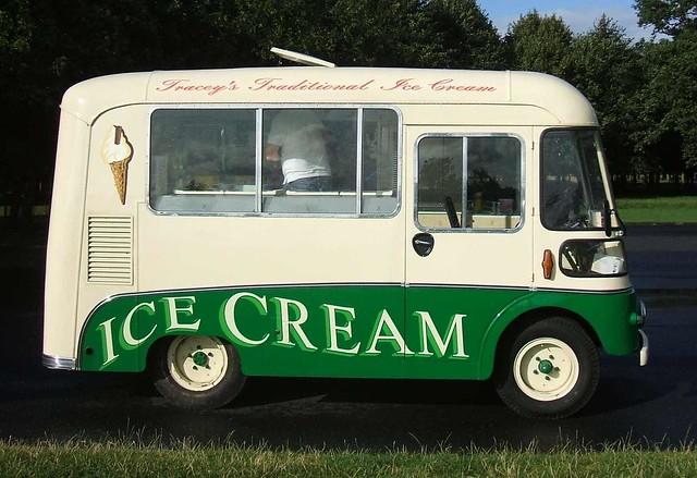 Tracey's Traditional Ice Cream van - Phoenix Park, Dublin (side view)