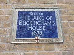 Photo of George Villiers blue plaque