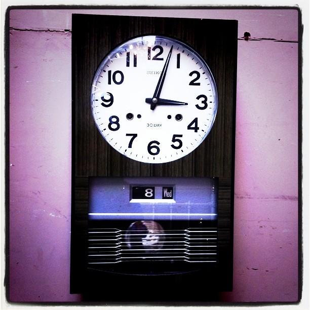 vintage japanese seiko chiming wall clock cool but