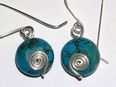 Turquoise disc spirals