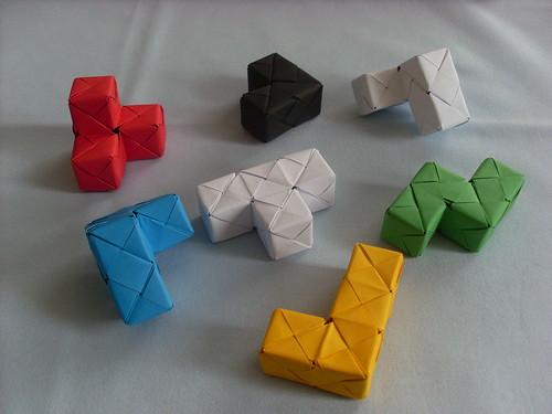 Pliage cube soma pliage de - Faire un cube en papier ...