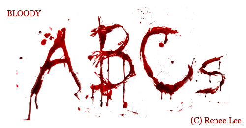 bloody letters  dripping blood alphabet
