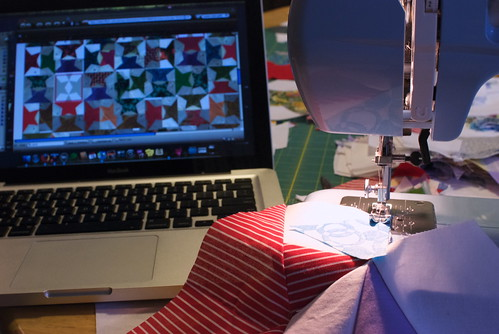 Quilt sprint, night #3: Let your MacBook be your guide