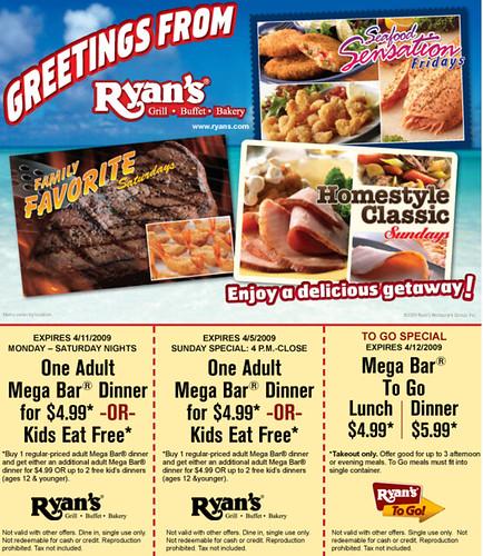 (Dinner) Ryan's Buffet Printable Restaurant Coupons ...