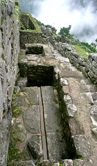 Machu Picchu, irrigation channel