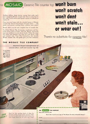 Mosaic Ceramic Tile Ad from House Beautiful - Oct 1955