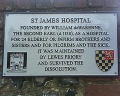 Photo of St James Hospital grey plaque