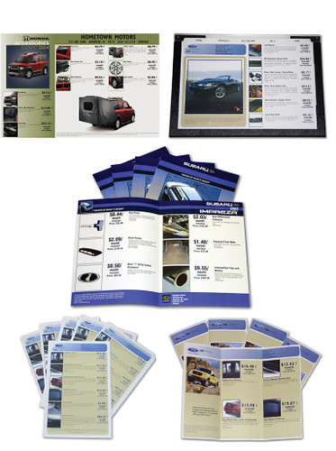 Vehicle Accessory Print Materials