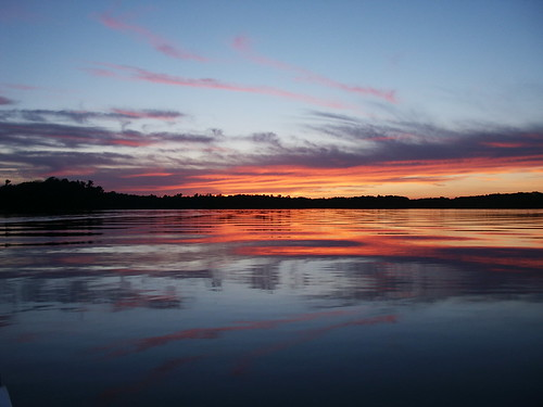blue sunset orange reflection silouette mn washburn