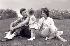 Gemini Personality Traits, John F. Kennedy, wife Jacqueline and daughter Caroline.