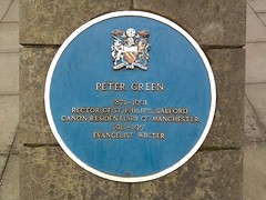 Photo of Peter Green blue plaque