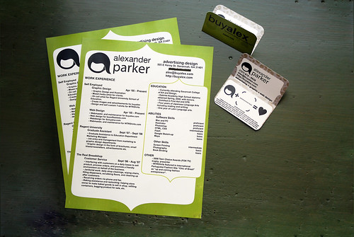 Green Resume CV & Business Card