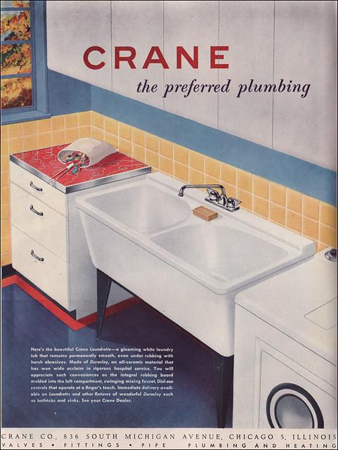 Vintage Crane Laundry Sink : Details about ANTIQUE CRANE LAUNDRY SINK