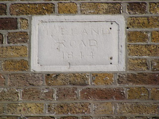 Street sign, E3 Iceland Road, 1844 in Bow.