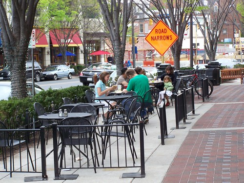 Restaurant patio, Bethesda Row