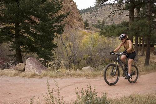 Biking the trails