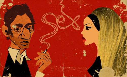 Serge Gainsbourg and Brigitte Bardot