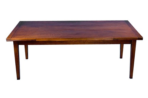Oak draw leaf table
