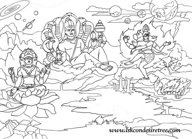 lord vishnu coloring pages - photo#10