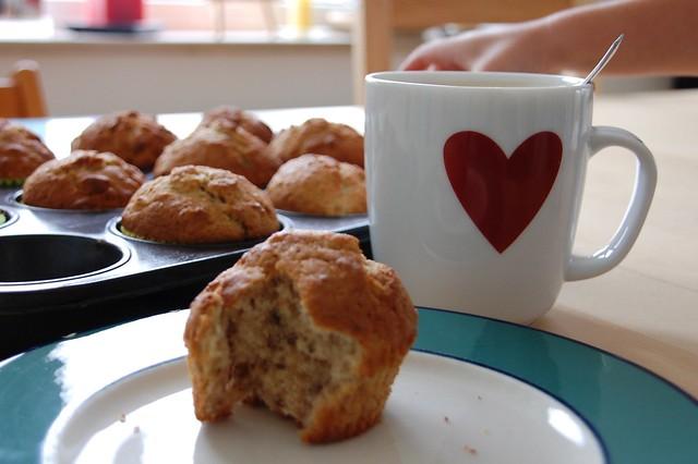 Banane-Walnuß-Muffins