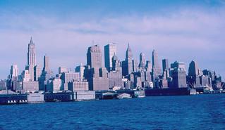 Lower Manhattan from Lackawanna Ferry (1964)