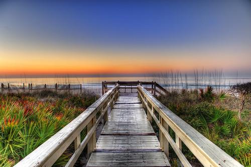 ocean sunset sea sky plants beach st sunrise island george sand nikon florida boardwalk fl 28 nikkor mapping tone hdr 2470mm 2470 flickrsbest mywinners abigfave d700 platinumheartaward arturodonate seagateo'neill
