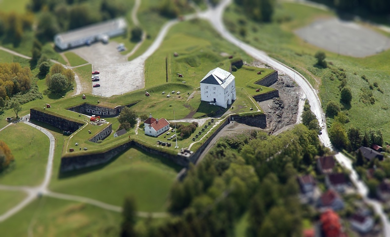 Kristiansten festning, fake tilt shift